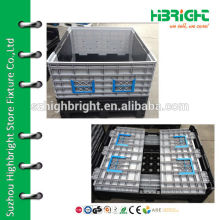 large plastic pallet storage container
