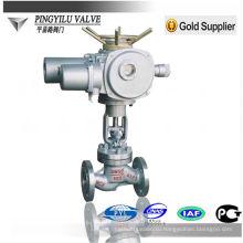 Фланцевое присоединение Шток PN16-PN100 Моторизованный шаровой клапан