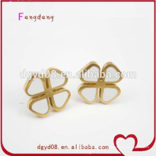 316 schöne Emaille Edelstahl Gold Ohrring Großhandel