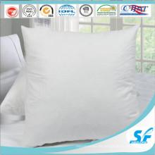 Super-suave acabado blanco cojín 100% algodón almohadilla cojín para el hotel