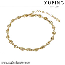 74751 простой стиль браслет мода унисекс ювелирные изделия высокая-конец дешевой цене цепь браслет оптовой продажи фабрики