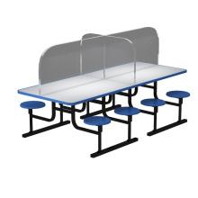 Mesa de comedor Separador de plexiglás acrílico Separador