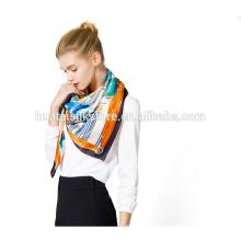 2015 Outono pura cachecol de seda de fabricação cachecol de mulheres chinesas lenço quadrado colorido