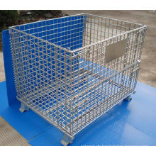 Heißer galvanisierter oder pulverlackierter stapelbarer Draht-Behälter