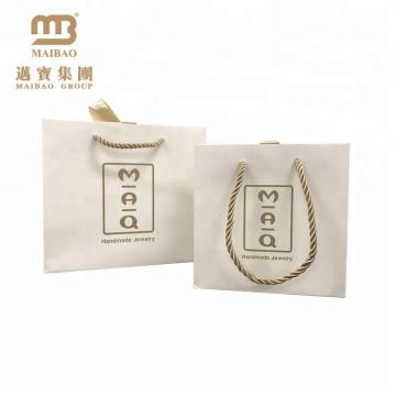 custom cheap handmade jewelry paper white bag