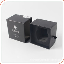 Plain black paper boxes gift for perfume
