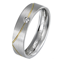 Rhodium Plated 925 Sterling Silver Ring for Wedding Band