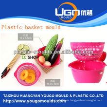 Inyección de plástico cesta de la compra molde fabricante molde de la cesta de inyección en taizhou zhejiang china