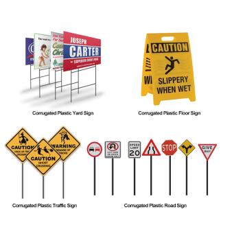 Cheap price polypropylene plastic road traffic signs