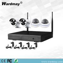 Kits sem fio de 4CH 1.0 / 2.0MP Security Wifi NVR