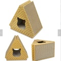Corrugated Cat Scratcher Trangle Shape Cat House