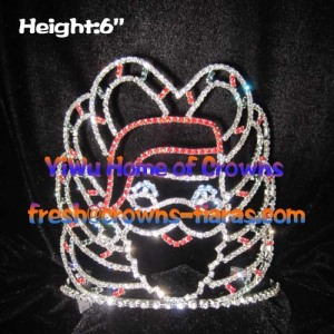 6inch Christmas Santa Claus Wholesale Crowns