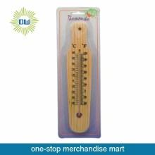 Panas menjual termometer dinding kayu Taman