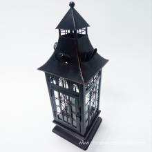 Metal Hurricane Lantern For Halloween