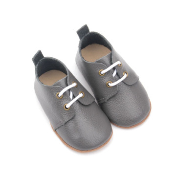 Real Leather Pure Color Toddler Shoes Oxford Shoes