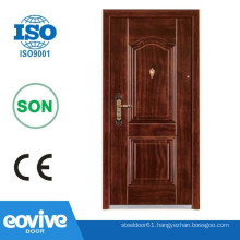 Turkish style solid door with metal frames