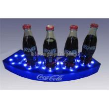 Merchandising Logotipo personalizado Iluminado Escritorio Acrilico 5 Botella de Perfume Botella Líquida Display Stand