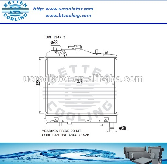 Auto Radiator For KIA