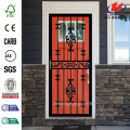Black Hinge Right Moon Security Door