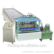 Hangzhou colored corrugated steel sheet roll forming machine/making machine