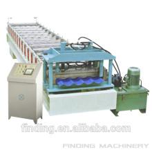 Chapa de aço ondulada colorida Hangzhou roll formando máquina/máquina