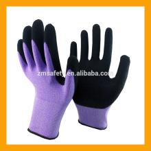Flexible Nylon Latex Rubber Work Gloves Black Foam Latex Gloves