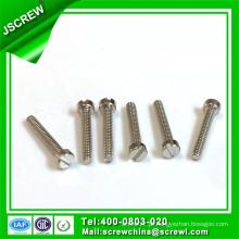 M1.8 * 3 Slotted Recess Cap Head Aço Inoxidável White Zinc Machine Screw