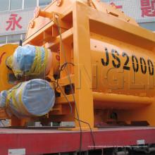 Eixos horizontais betoneiras forjadas Js2000 (100-120m3 / h) betoneiras para venda