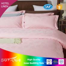Roupa de cama do hotel / tecido de algodão puro direto da roupa de cama da fábrica do tamanho da rainha