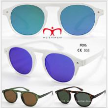 2016 gafas de sol de venta caliente y moda de plástico ronda (wsp601532)