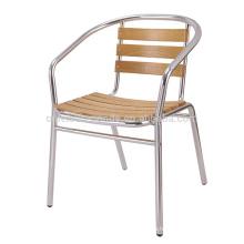 Modern cheap used aluminum wood bar chair