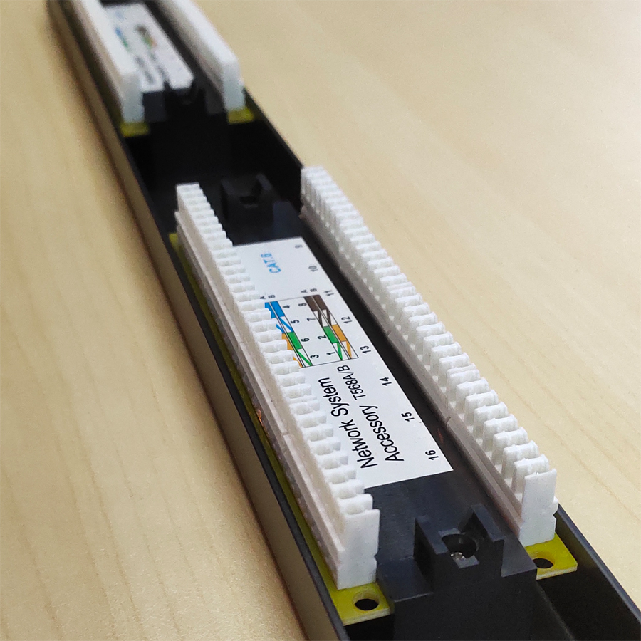16 ports the patch panel