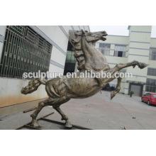 Art moderne Animaux de cheval Décoration extérieure Statue en métal