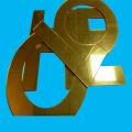 Placa acrílica Golden Silver Mirror 2mm 3mm Espessura