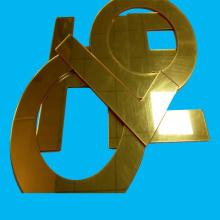 Goldener Acrylspiegel Silberfarbener Acrylspiegel