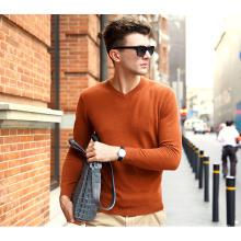 Men′s Cashmere Sweater with V Neck (13brdm001-6)