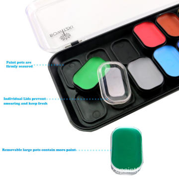 Private Label 18 färger Body Face Paint Kit
