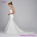 Silk Organza V-Neck with Embroidery Lace Wedding Dress