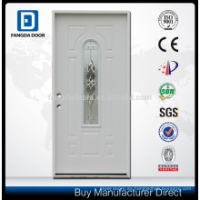 Fangda puerta de vidrio de acero de alta calidad mejor que las inserciones de vidrio emplomado de la puerta