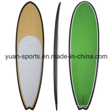 Bamboo Veneer Stand up Paddle Board/Sup; Wood Veneer and Colourful Painting Also Avaiable, EPS Core with Fiberglassing Structure