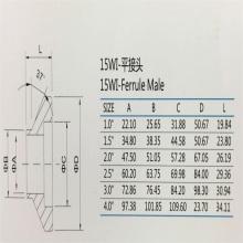 Virola 15WI macho SS304