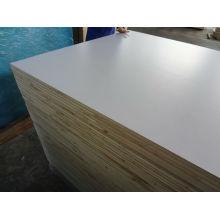 Текстурированные Белый ПВХ / акриловая роспись доски блока для рынка РВ, полиэстер пиломатериал