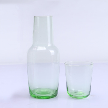 Mouth Blown Colored Bedside Carafe Copo De Vidro Beber