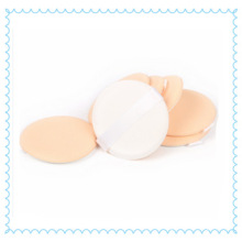 Cotton Cosmetic Air Cushion Powder Puff with White Ribbon