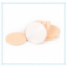 Sopro de pó de cosméticos coxim de ar de algodão com fita branca