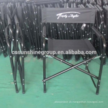 Aluminum frame Folding director chair with table and side bag