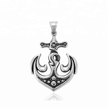 33379 xuping fashion Stainless Steel jewelry Viking Anchor cross pendant