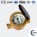 Hot sale factory price Dn15-32 single jet brass wet type water meter