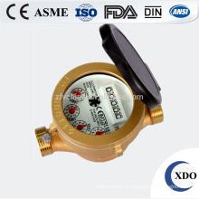Hot venda fábrica preço Dn15-32 único jato medidor de água tipo molhado bronze