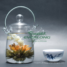 100% artesanal flor artística chá de florescência (BT007)